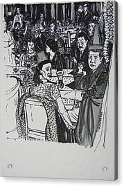 New Year's Eve 1950's Acrylic Print by Marwan George Khoury