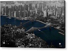 New York Aerial Acrylic Print by Ms Judi