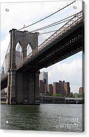 New York Bridges 1- Brooklyn Bridge Acrylic Print by Ausra Huntington nee Paulauskaite