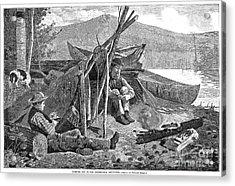 New York: Camping, 1874 Acrylic Print by Granger