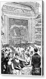 New York Charity Ball, 1884 Acrylic Print by Granger