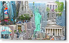 New York City Beyond Nine Eleven Acrylic Print by Ted Lang