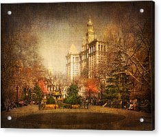 New York In April Acrylic Print by Svetlana Sewell