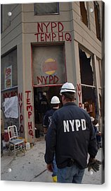 New York Police Department Set Acrylic Print by Everett
