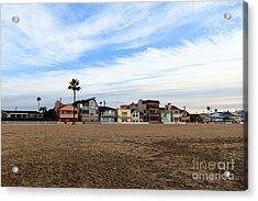 Newport Beach Oceanfront Houses Acrylic Print by Paul Velgos