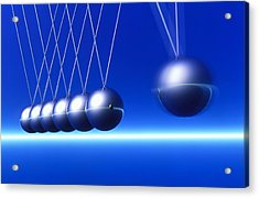Newton's Cradle In Motion Acrylic Print by Pasieka