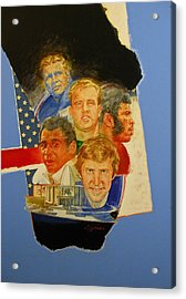 Nfl Hall Of Fame 1986 Game Day Cover Acrylic Print by Cliff Spohn