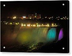 Niagara Fall Colors Acrylic Print by Cheryl Cencich