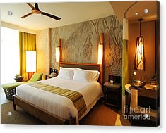 Nice Hotel-room Acrylic Print by Atiketta Sangasaeng