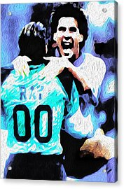 Nicolas Nixo Soccer Acrylic Print by Nicolas Nixo