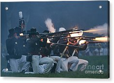 Night Firing Acrylic Print by JT Lewis