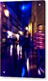 Night Walk. Tnm Acrylic Print by Jenny Rainbow