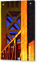 Nightfall Over Sacramento In Abstract . Vision 2 Acrylic Print by Wingsdomain Art and Photography