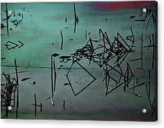 Nightfall Over The Wetlands Acrylic Print by Bonnie Bruno