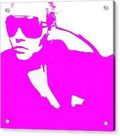Niki Pink Acrylic Print by Naxart Studio