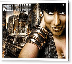 Niki Acrylic Print by The DigArtisT