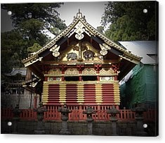 Nikko Architecture With Gold Roof Acrylic Print by Naxart Studio