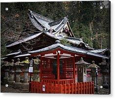 Nikko Monastery Building Acrylic Print by Naxart Studio