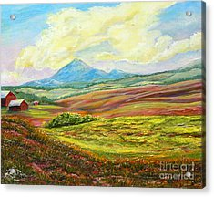 Nixon's Golden Light Converging Upon The Farm Acrylic Print by Lee Nixon
