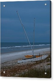 No Sailing Today Acrylic Print by DigiArt Diaries by Vicky B Fuller