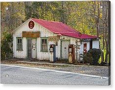 North Carolina Country Store And Gas Station Acrylic Print by Bill Swindaman
