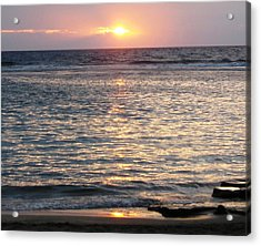 North Shore Sunset Acrylic Print by Sharon Farris