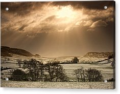 North Yorkshire, England Sun Shining Acrylic Print by John Short