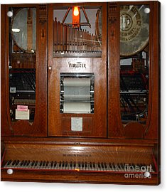 Nostalgic Wurlitzer Player Piano . 7d14400 Acrylic Print by Wingsdomain Art and Photography