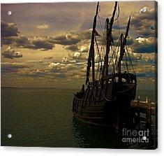 Notorious The Pirate Ship Acrylic Print by Blair Stuart