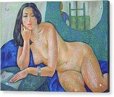 Nu 22 Acrylic Print by Leonid Petrushin
