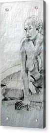 Nude 4794 Acrylic Print by Elizabeth Parashis