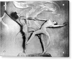 Nude Interpretive Dancers Acrylic Print by Underwood Archives