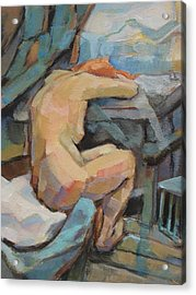 Nude Painting 3 Acrylic Print by Alfons Niex