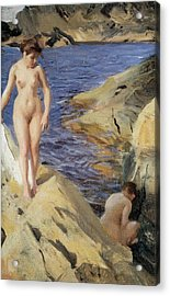 Nudes Acrylic Print by Anders Zorn