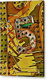 Number Five Acrylic Print by Garry Gay