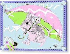 Nursery Baby Juvenile Licensing Art Acrylic Print by Anahi DeCanio