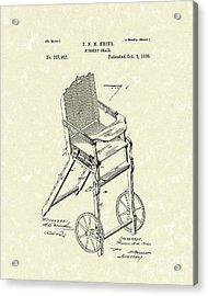 Nursery Chair 1885 Patent Art Acrylic Print by Prior Art Design