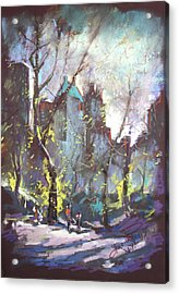 Nyc Central Park Controluce Acrylic Print by Ylli Haruni