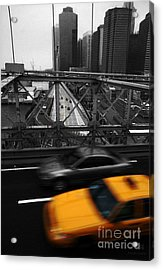 Nyc Yellow Cab Acrylic Print by Hannes Cmarits