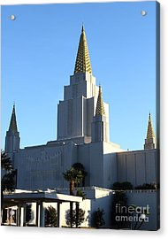 Oakland California Temple . The Church Of Jesus Christ Of Latter-day Saints . 7d11374 Acrylic Print by Wingsdomain Art and Photography