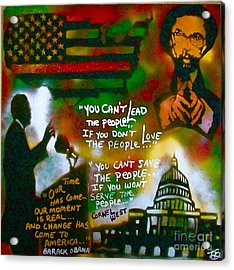 Obama Vs. Cornel Acrylic Print by Tony B Conscious