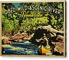 Obed Wild Scenic River Tennessee  Acrylic Print by Flo Karp