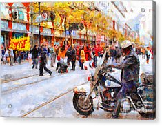 Occupy Sf Market Street . 7d9738 Acrylic Print by Wingsdomain Art and Photography