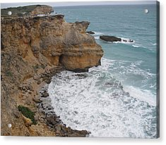 Ocean Cliffs Acrylic Print by Melissa Torres