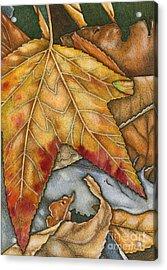 October Acrylic Print by Nora Blansett