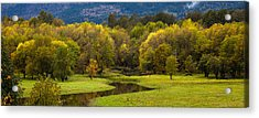 October Serenity Acrylic Print by Mike Reid