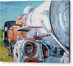 Off Track Acrylic Print by Chris Steinken