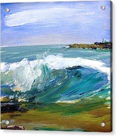 Ogunquit Beach Wave Acrylic Print by Scott Nelson