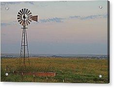 Oklahoma Windmill Acrylic Print by Tony Grider