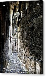 old alley in Italy Acrylic Print by Joana Kruse